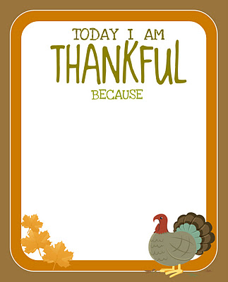 today I am thankful because freebie