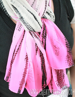 DIY painted scarf