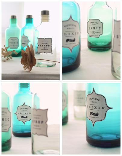 DIY vintage bottles