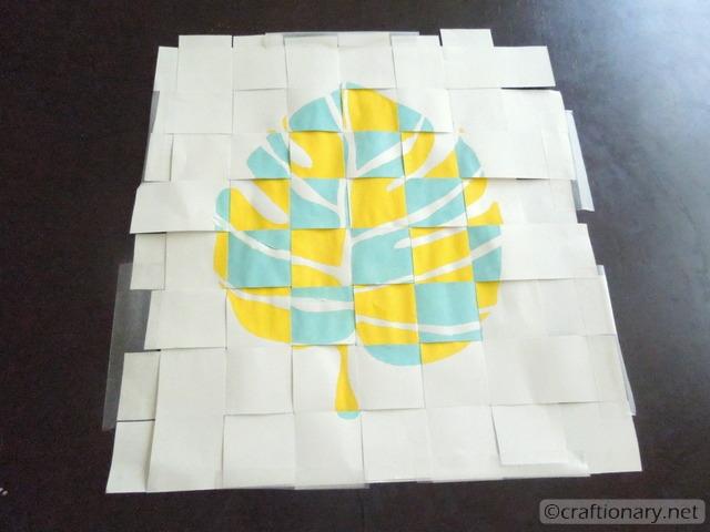woven paper wall art 2