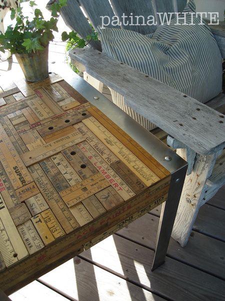diy ruler scale side table blog tutorial