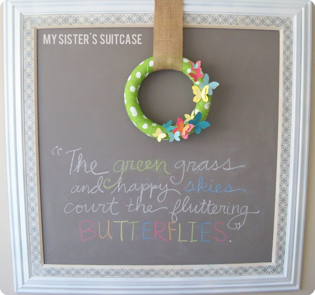 make paint chip wreath