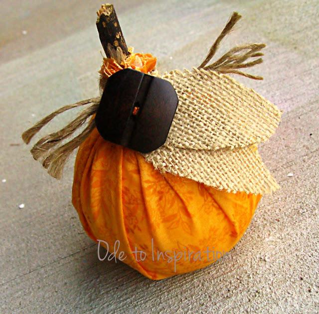 no sew no glue pumpkin