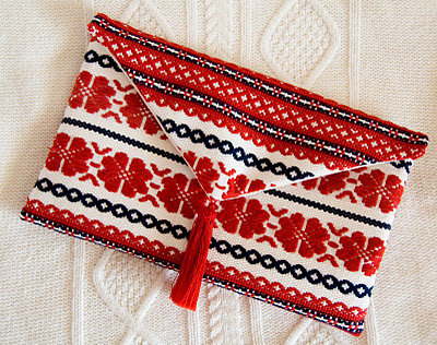 handmade clutch from sweater