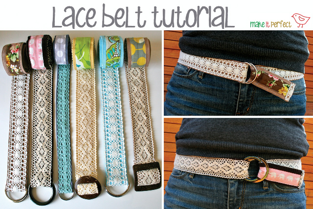 DIY sewing lace belts
