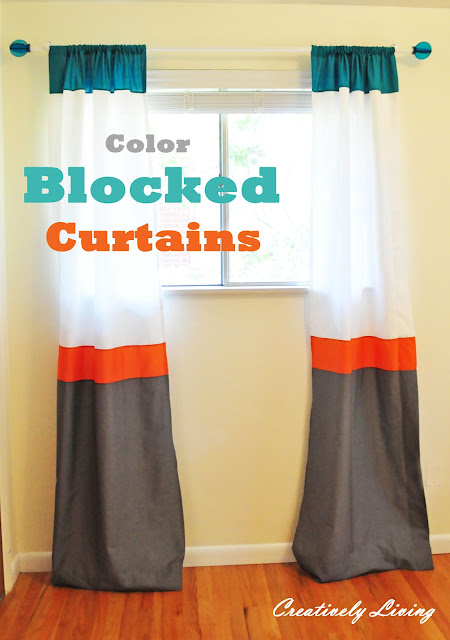 Curtains Ideas colorblock curtains : Craftionary