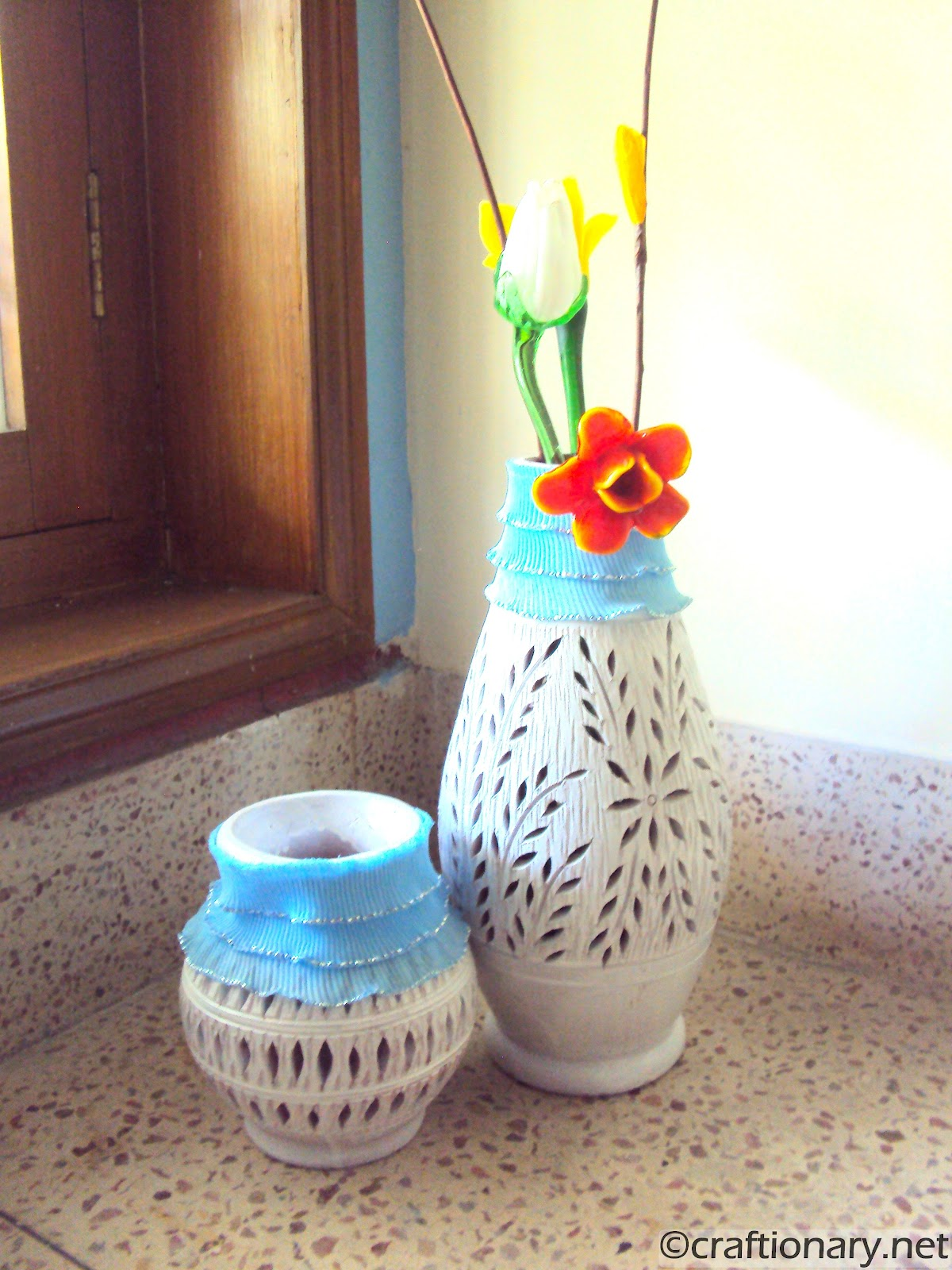 me tell you a little about these beautiful DIY clay pots. These are