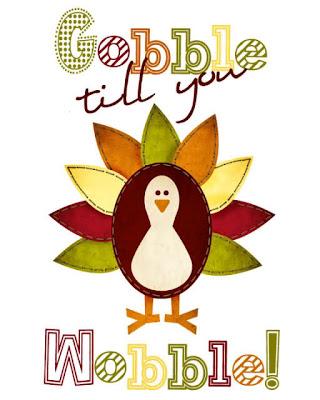 turkey gobble wobble print