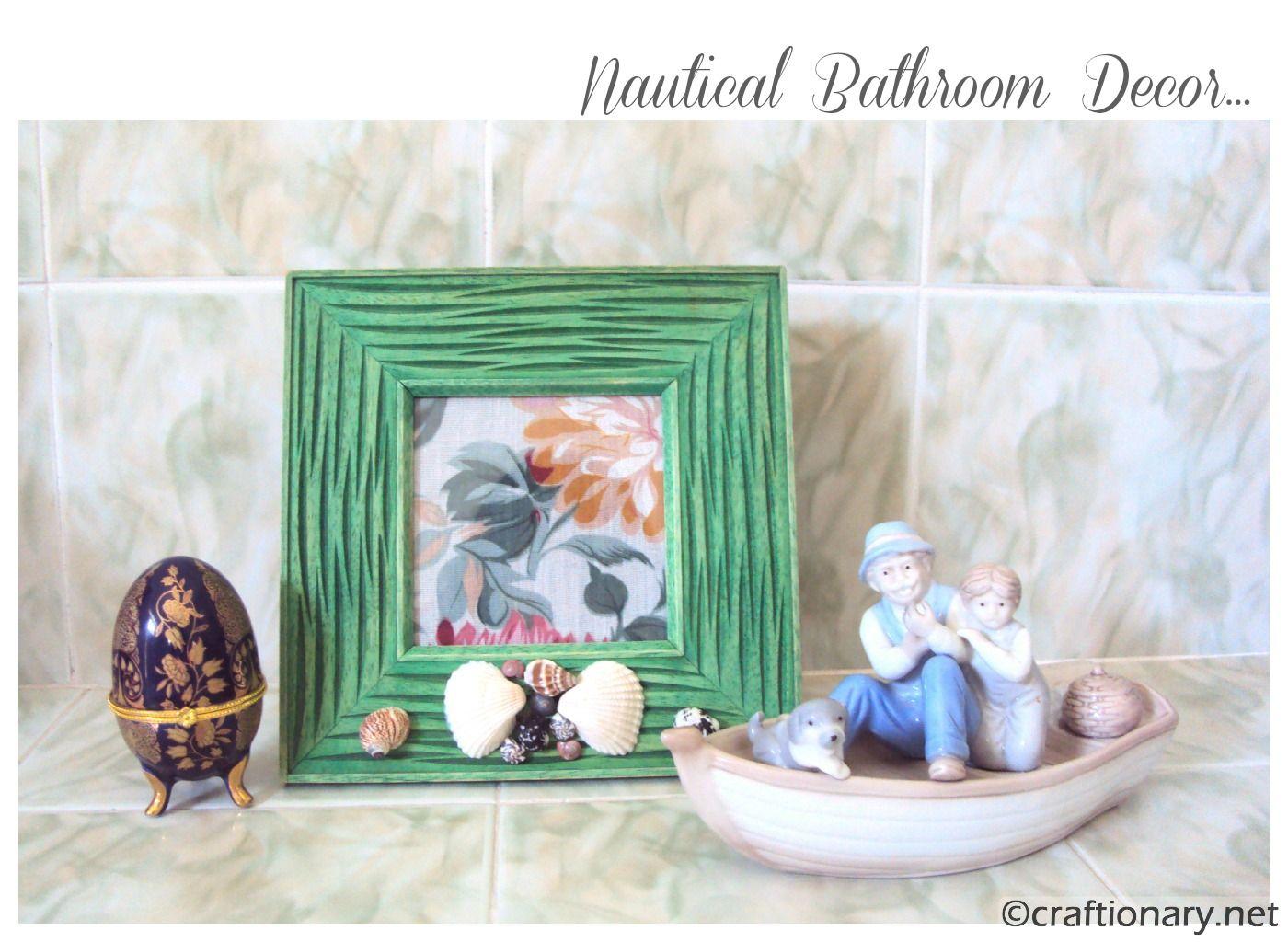 Bathroom Decorating Ideas With Seashells seashell bathroom ideas 29 beach crafts coastal diy wall art