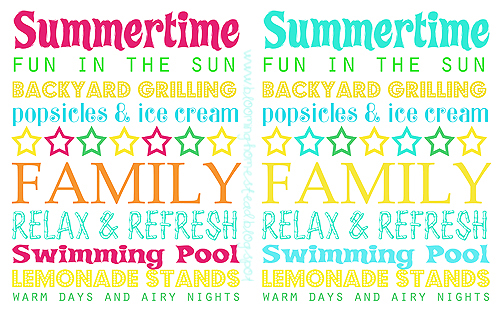 picture relating to Summer Printable identify Craftionary