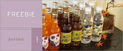 freebie halloween drink labels