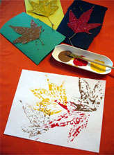 diy leaf stamps