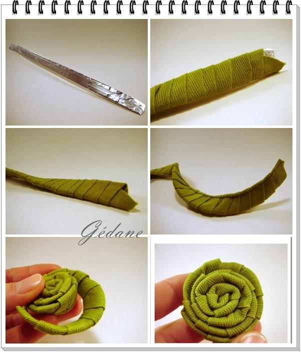 Ribbon Rose Craft Diy