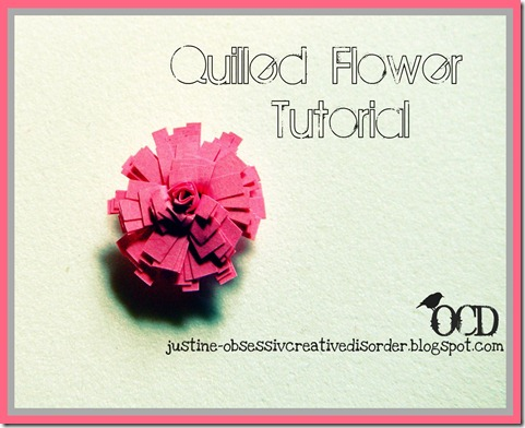 quilled paper flower