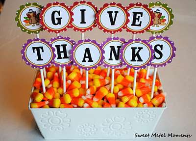 give thanks centerpiece