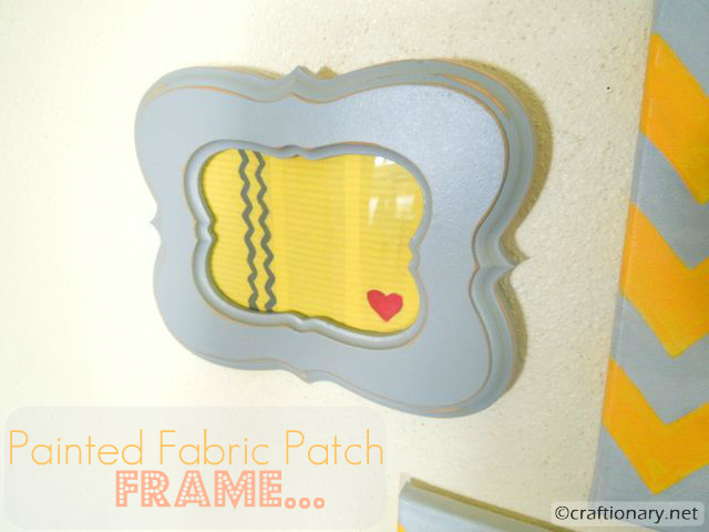 Painted Fabric Patch Frame