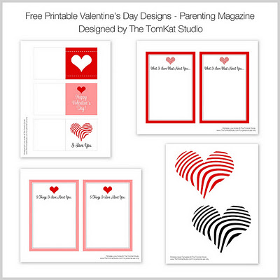 photo relating to Valentine's Day Tags Printable named Craftionary