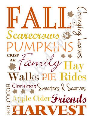 thanksgiving fall subway art