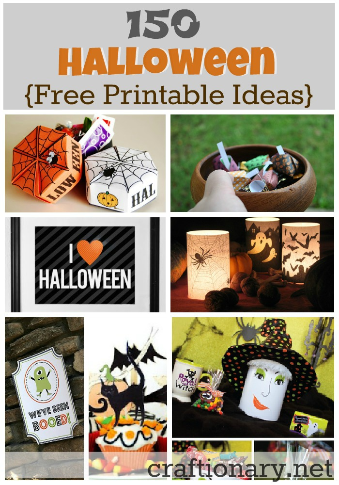 image about Free Printable Halloween identified as Craftionary
