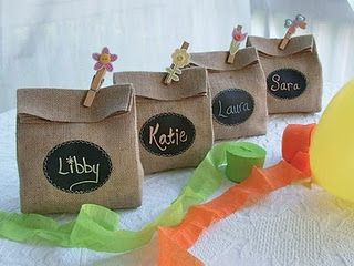 chalkboard party favors