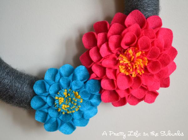 handmade felt flowers cute dahlias made with felt each petal
