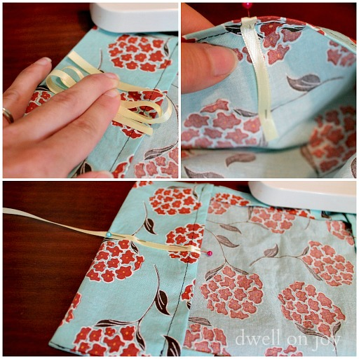 Sewing Fabric Book Cover ~ Craftionary