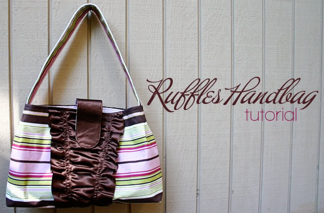 ruffles handbag tutorial