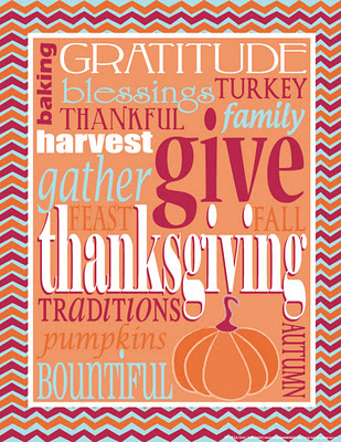 thanksgiving chevron subway art freebie