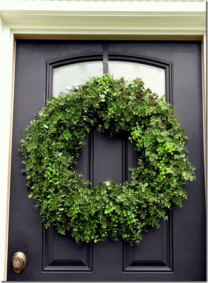 DIY green wreath