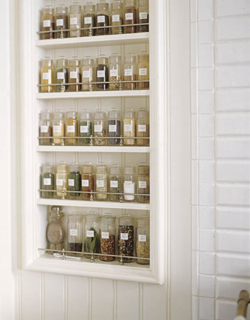 Build In Spice Rack On The Wall .