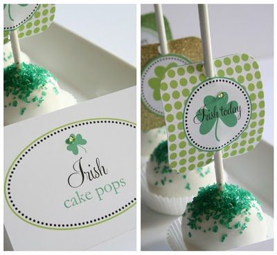Irish cake pop printables