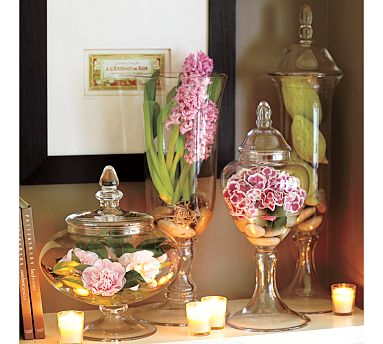 floral decoration jars