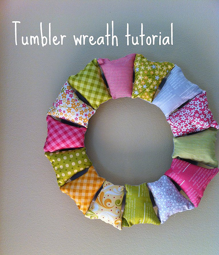 DIY wreath with fabric