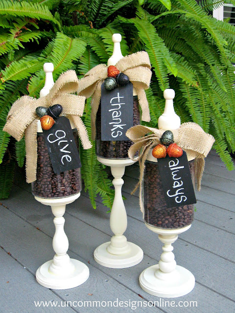 fall jars decoration