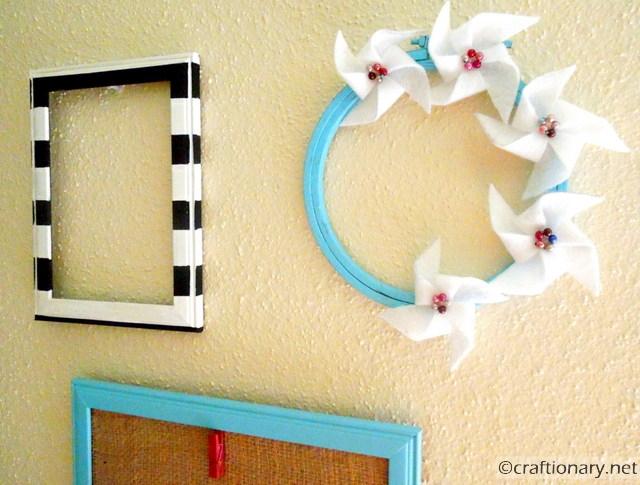 felt pinwheels hoop
