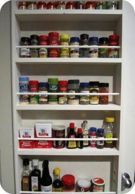 Make A DIY Hanging Spice Rack On The Pantry Door