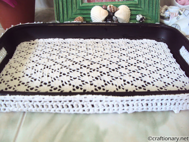 DIY crochet tray