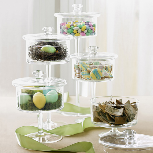 What To Fill In The Apothecary Jars Easter Decor