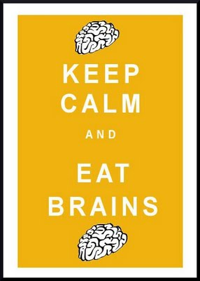 Keep Calm And Eat Brains Halloween