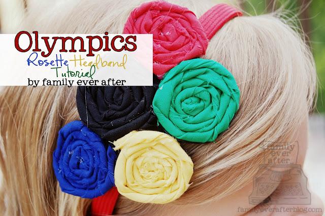 Olympics rosettes headband