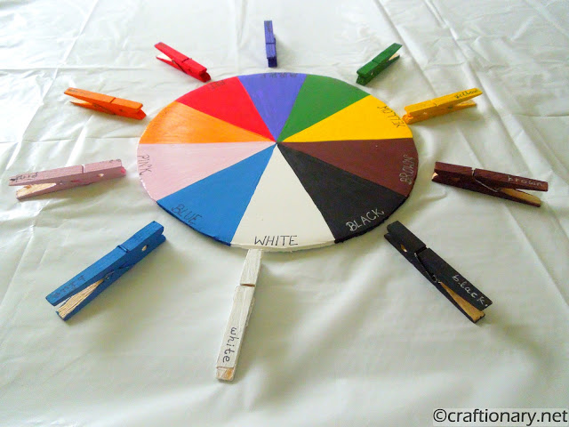 color wheel teaching kids all about colors