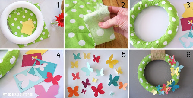 paint chip wreath tutorial