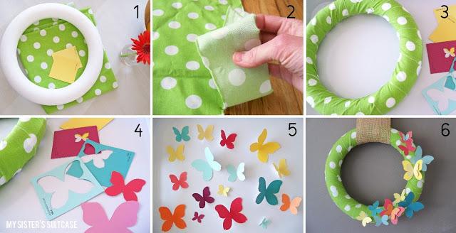 paint chip wreath tutorial