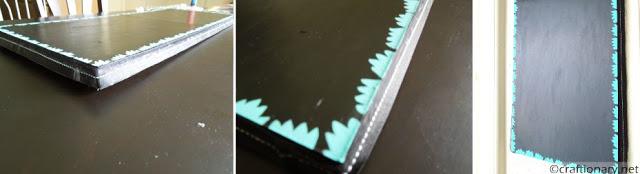 handmade DIY chalkboard tutorial