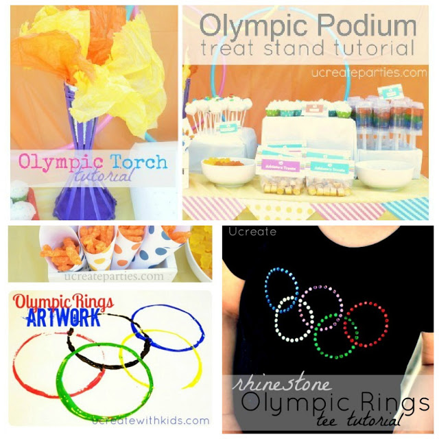 Olympics torch podium rings artwork ideas
