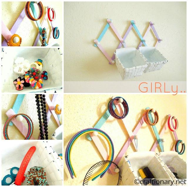 Diy Modern Hanging Jewelry Organizer: Craftionary