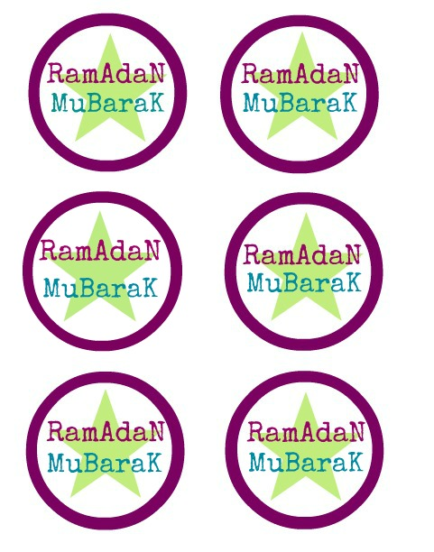 Pics Photos - Ramadan Mubarak Labels Menu Cards Free Printables