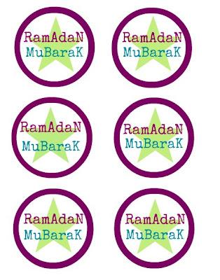 ramadan mubarak circles topper free printable