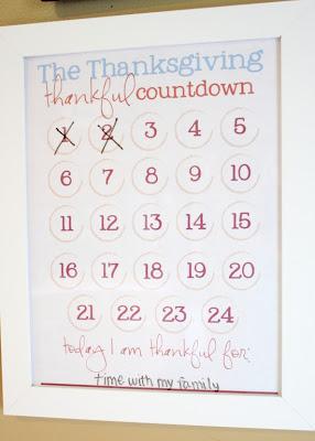 count down calendar thanksgiving