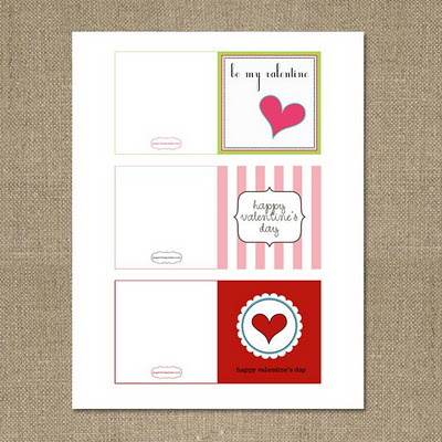 sweet and cute valentines day cards printables